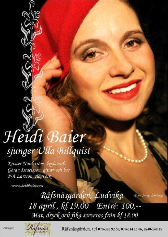 Heidi Baier sjunger Ulla Billquist