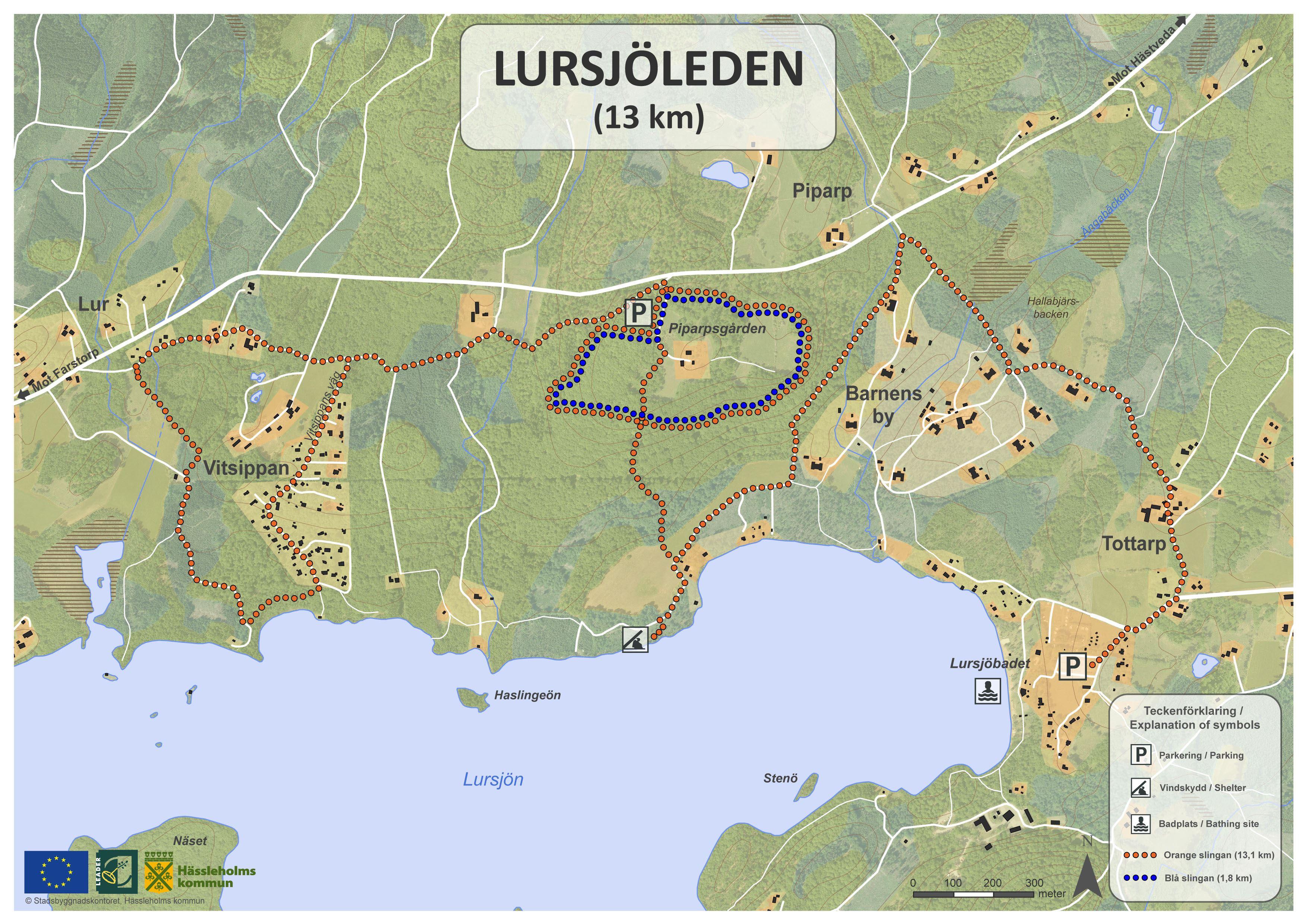 Lursjöleden, Lursjö hiking trail