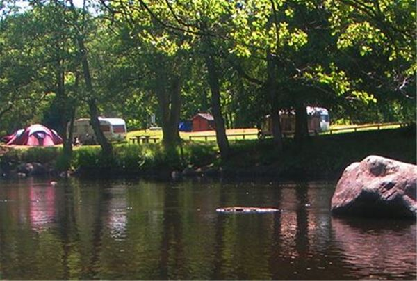 Campsite, the river Mörrum