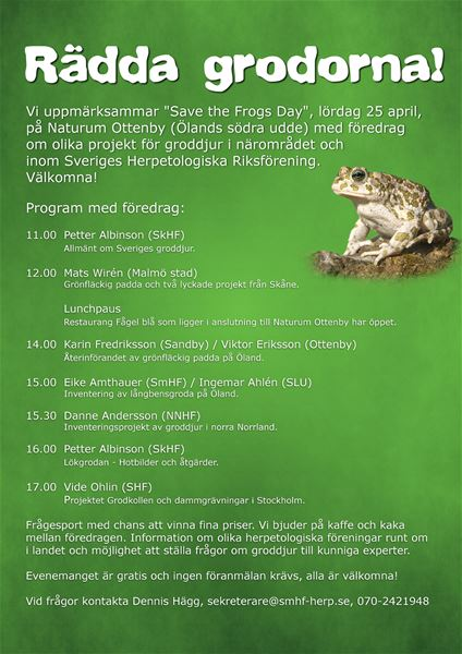 Save the Frogs Day