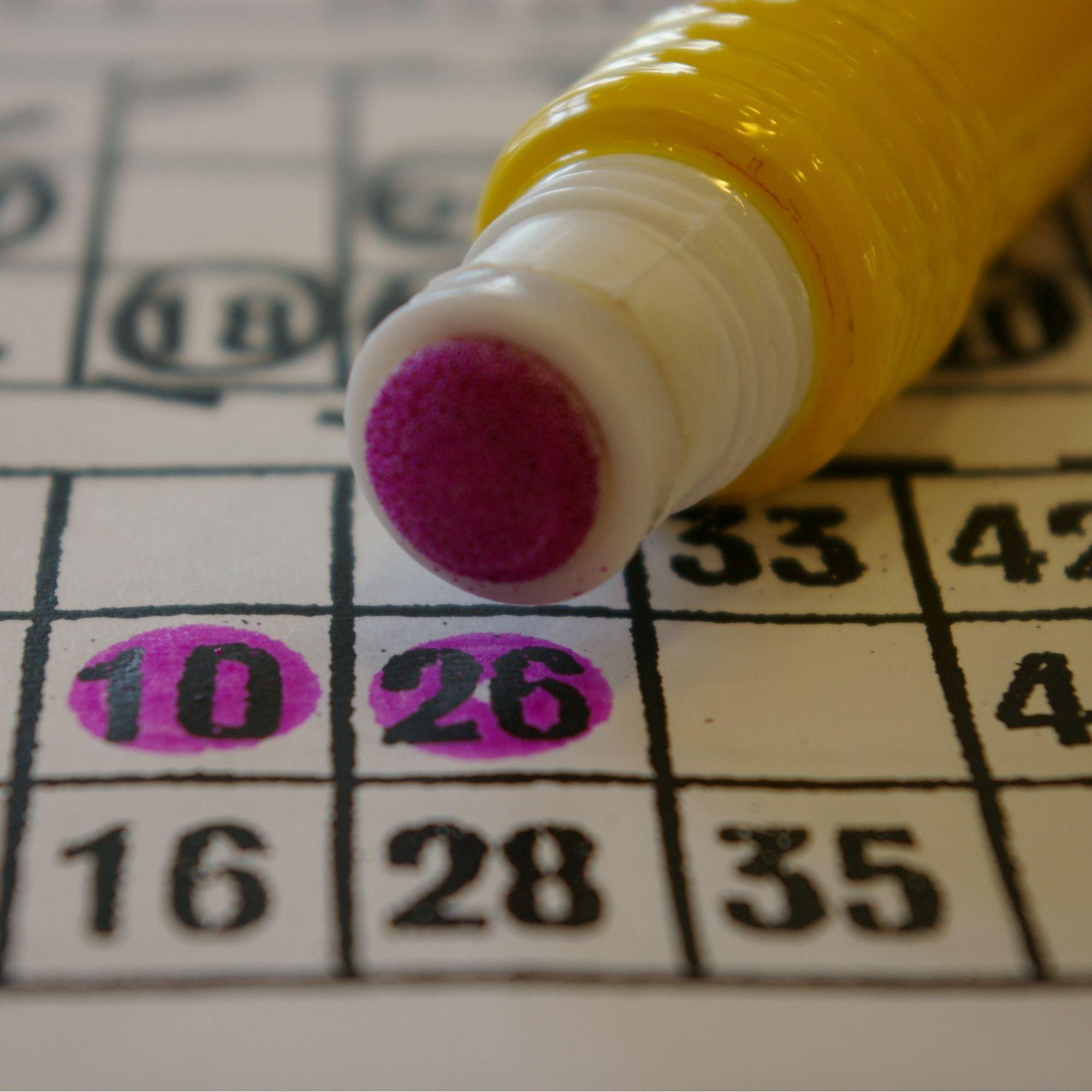 © VisitÖstersund, Bingobricka med bingopenna