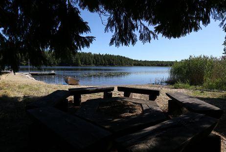 Bäverjakt vid sjön Stråken