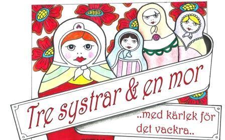 Vårmarknad med Tre systrar och en Mor