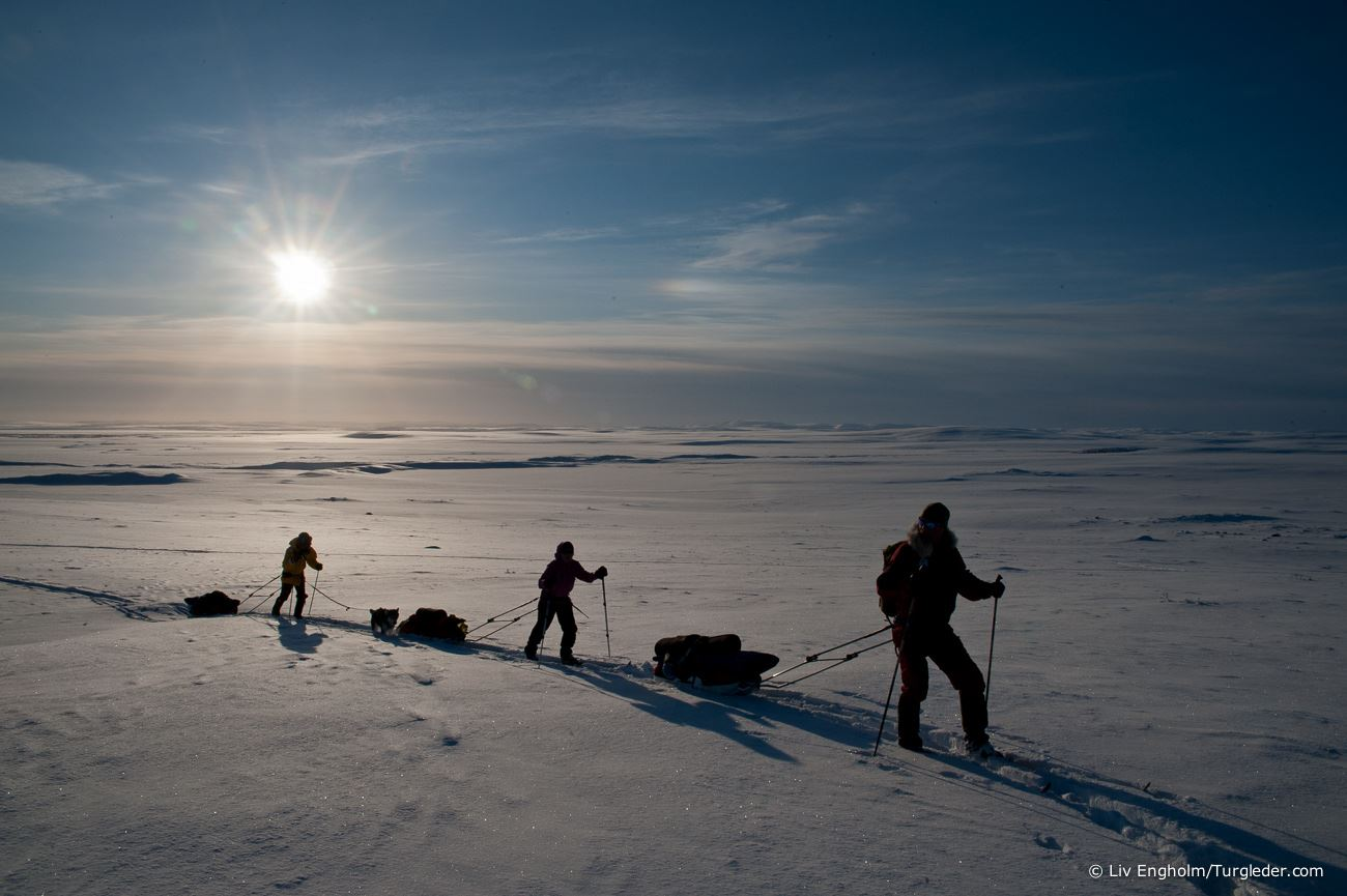 17 days - Finnmark Plateau north – south skiing expedition