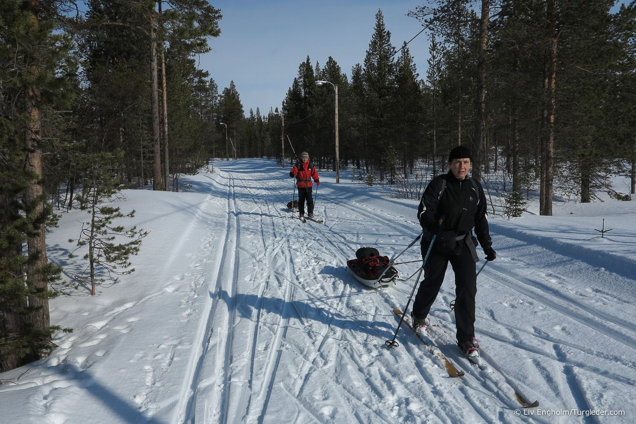 Cross country skiing day trip