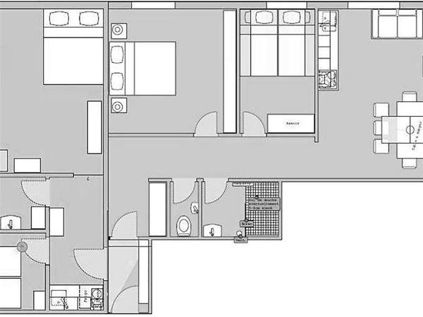 Lägenhet för upp till 8 personer med 5 rum på Haus Granit - Zermatt