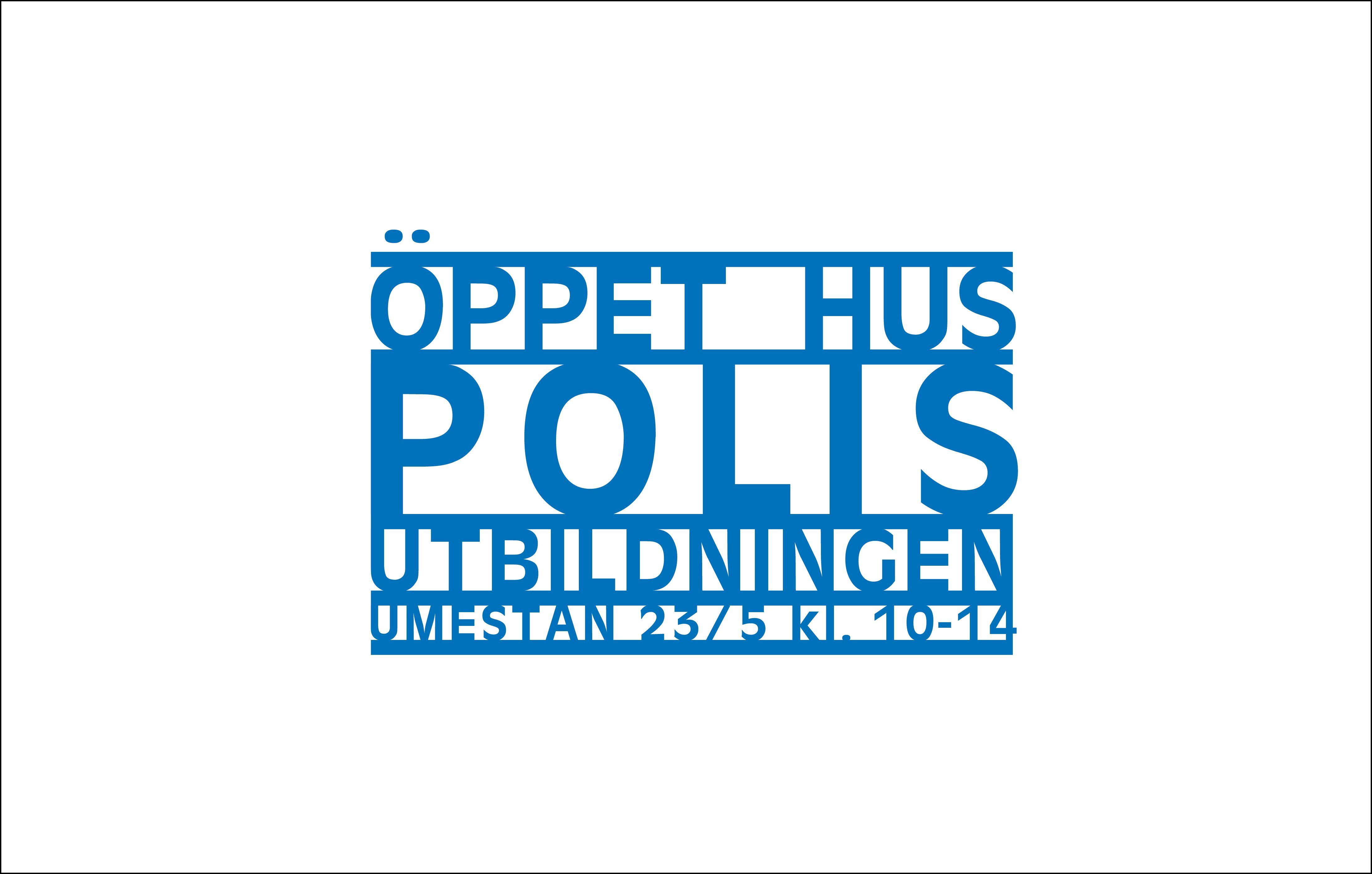 Öppet Hus på Polisutbildningen i Umeå