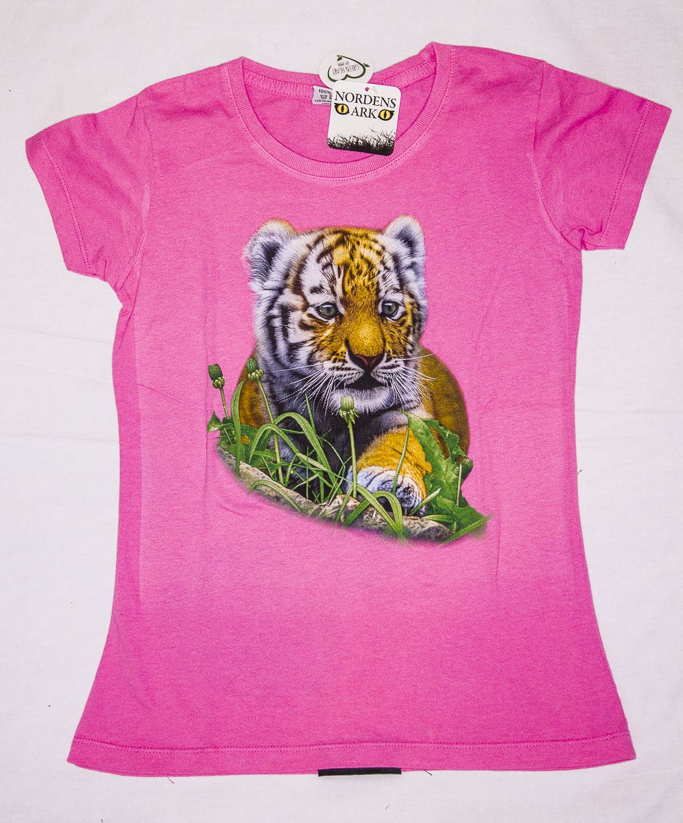 T-shirt rosa amurtiger, 122 - 128 cl