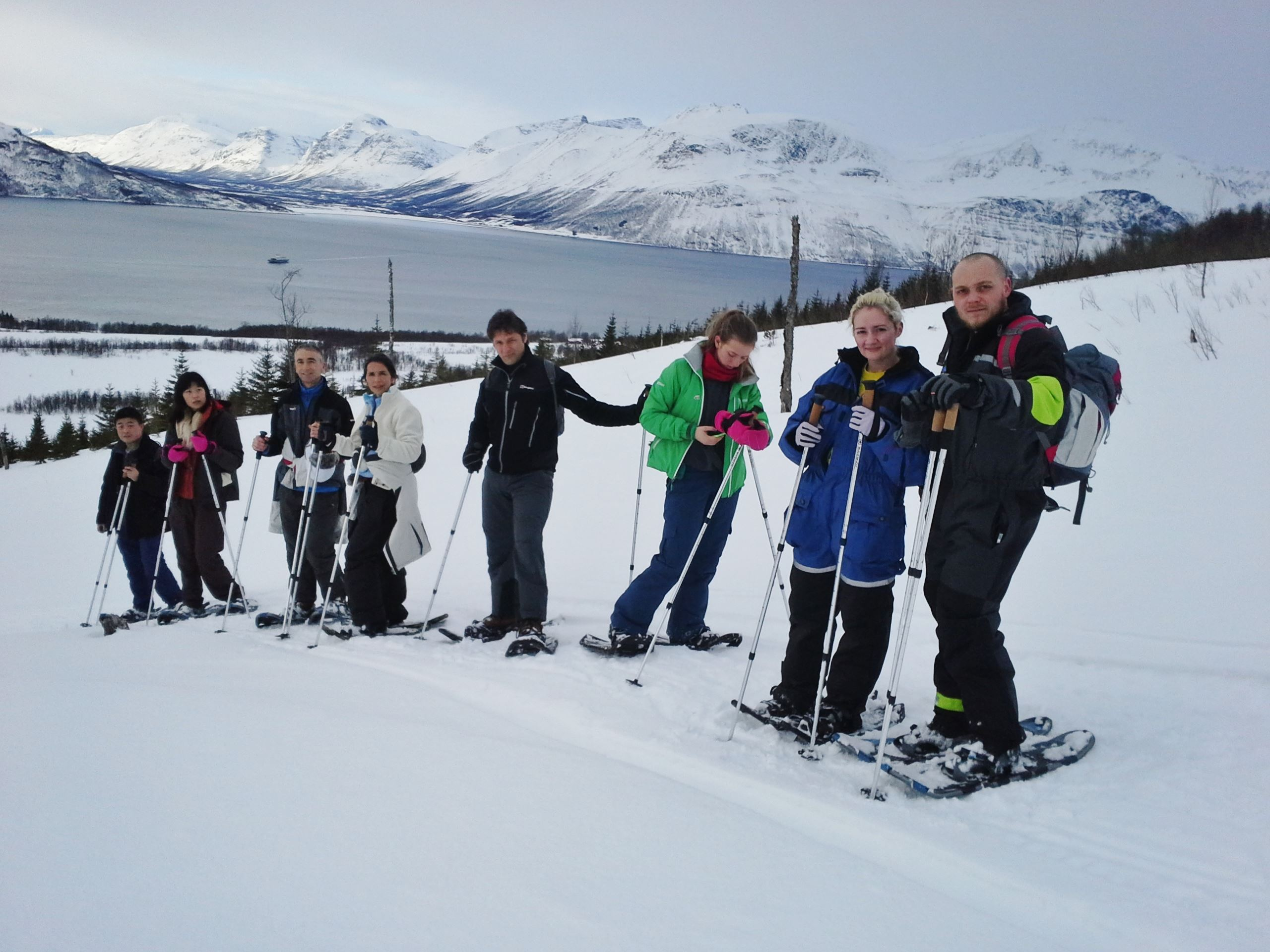 Snowshoeing on the Edge of Tromsø – Daytime – Aurora Alps