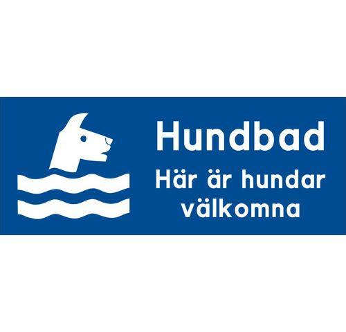 Foto från skyltar.se, Hundbad i Ockelbo