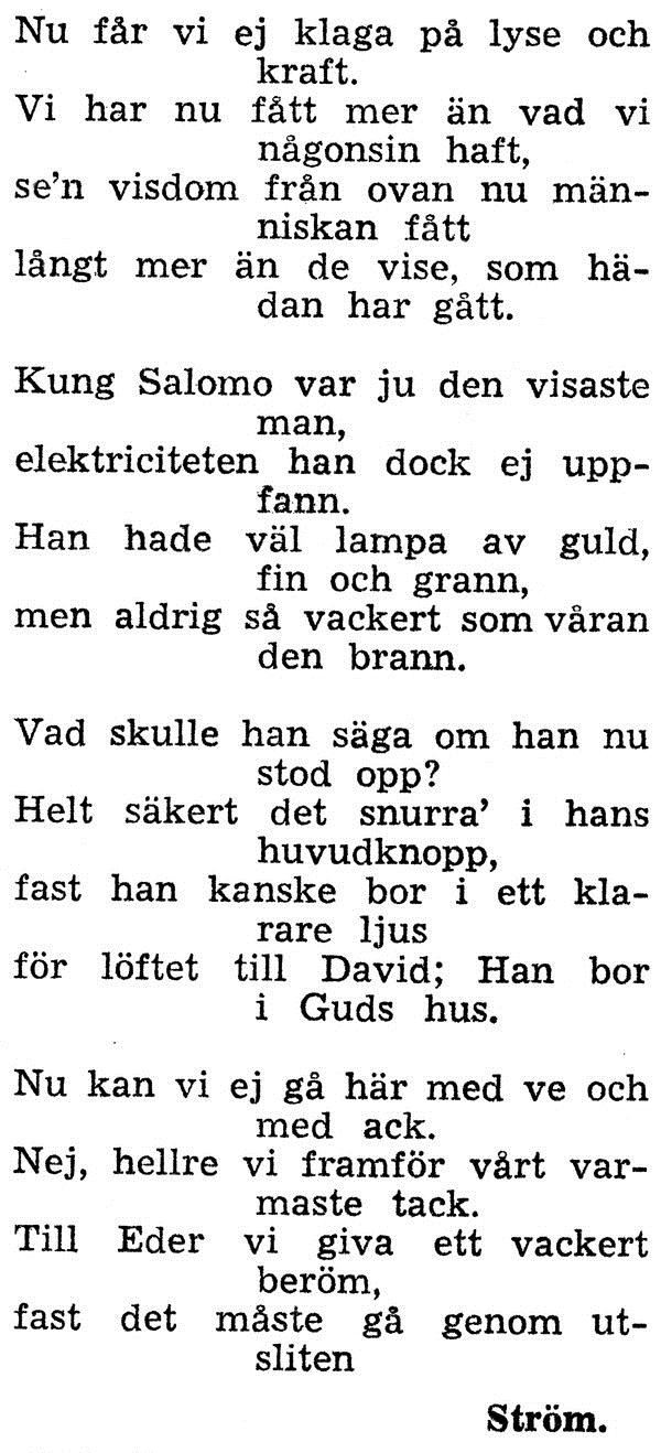 © Upphovsman: Ola Hugosson Upphovsrätt: Creative Commons, Alma Ströms dikt till elmontören.