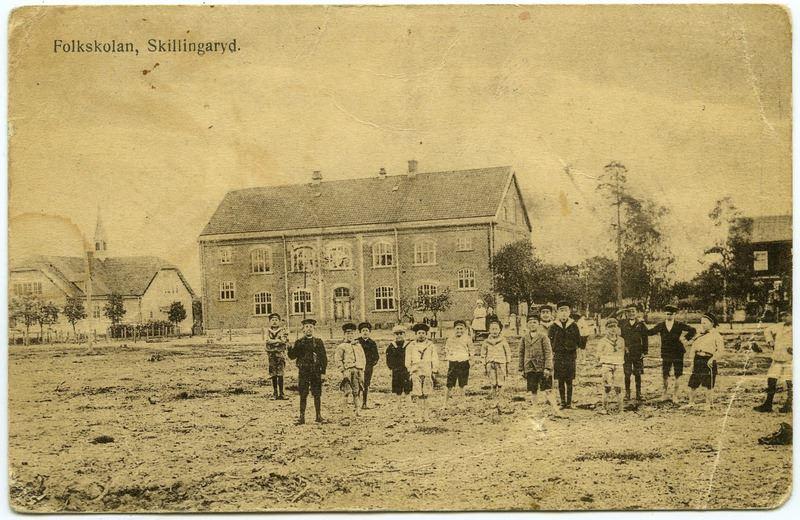 © Upphovsman: Ola Hugosson Upphovsrätt: Creative Commons, Tidig bild på nya skolan. Från Per Bunnstads samling