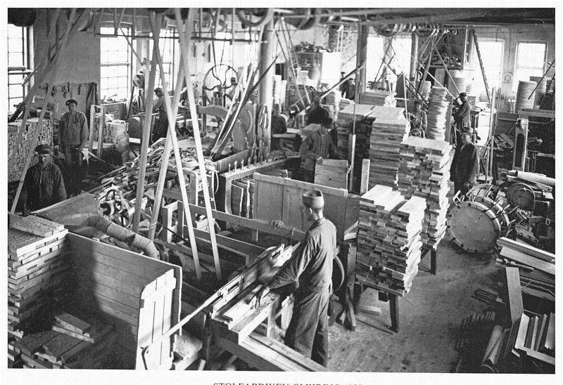 © Upphovsman: Östbos arkiv, Skillingaryds Pinnstolsfabrik