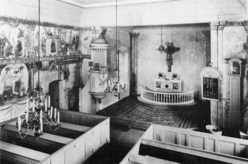 © Upphovsman: Upplagd av Camilla Appelqvist Upphovsrätt: Alla rättigheter reserverade, Kyrkans äldsta del är långhuset. Korset är en senare tillbyggnad.