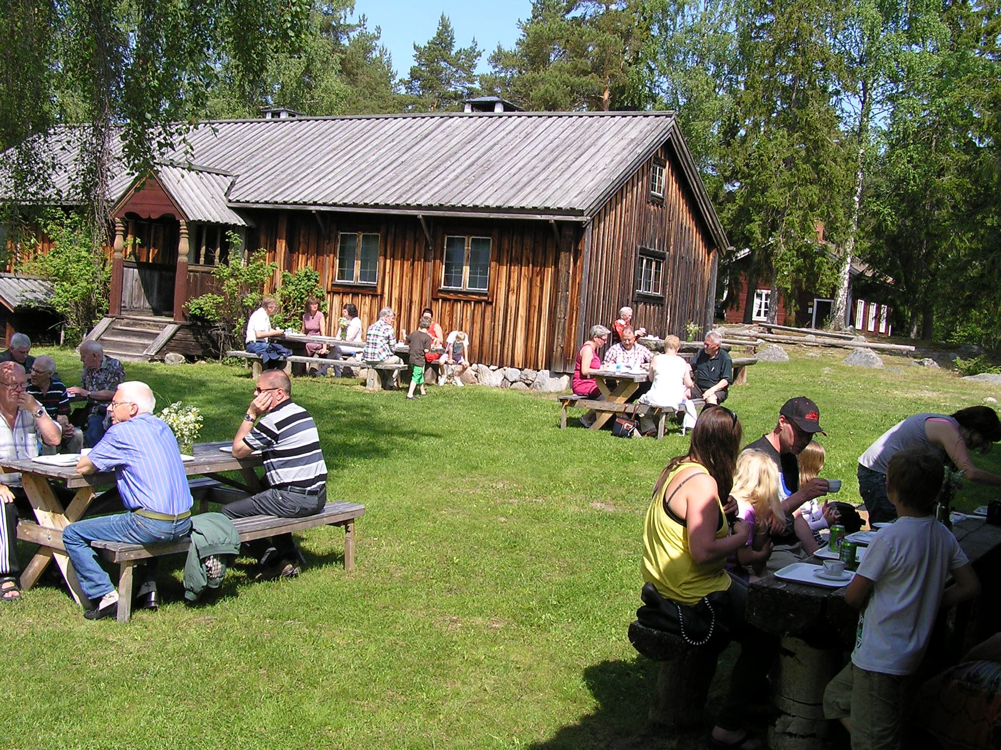 National- och sockendags firande Bjuråkers Forngård
