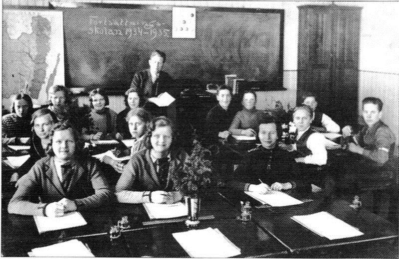 © Upphovsman: Upplagd av Camilla Appelqvist Upphovsrätt: Creative Commons, fortsättningsskola 1934-1935.