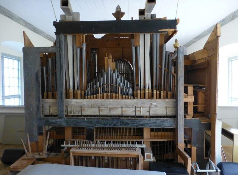 Upphovsman: Foto Nils jonsson,  © Upphovsman: Foto Nils jonsson, Schiörlinska orgeln användes till 1952