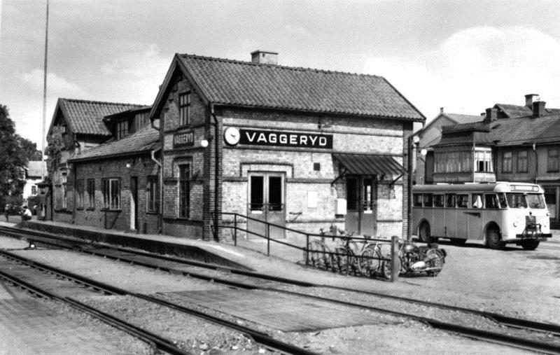 © Upphovsman: Upplagd av Camilla Appelqvist Upphovsrätt: Alla rättigheter reserverade , Vaggeryds station på 1950-talet