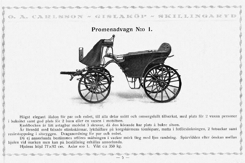 © Upphovsman: Ola Hugosson Upphovsrätt: Creative Commons, Från produktkatalog Vagnar tillverkades i många olika modeller.Katalogen omfattar över 80 olika produkter
