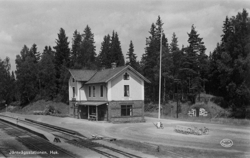 © Upphovsman: Arkivbilder Christer Glenvik, Hok stationshus omkr 1930