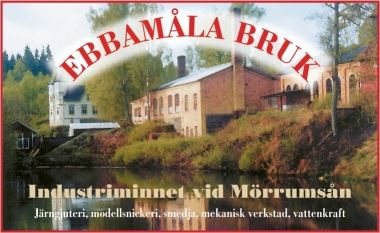 EBBAMÅLA BRUK with a Café and a Shop in the Ironbarn