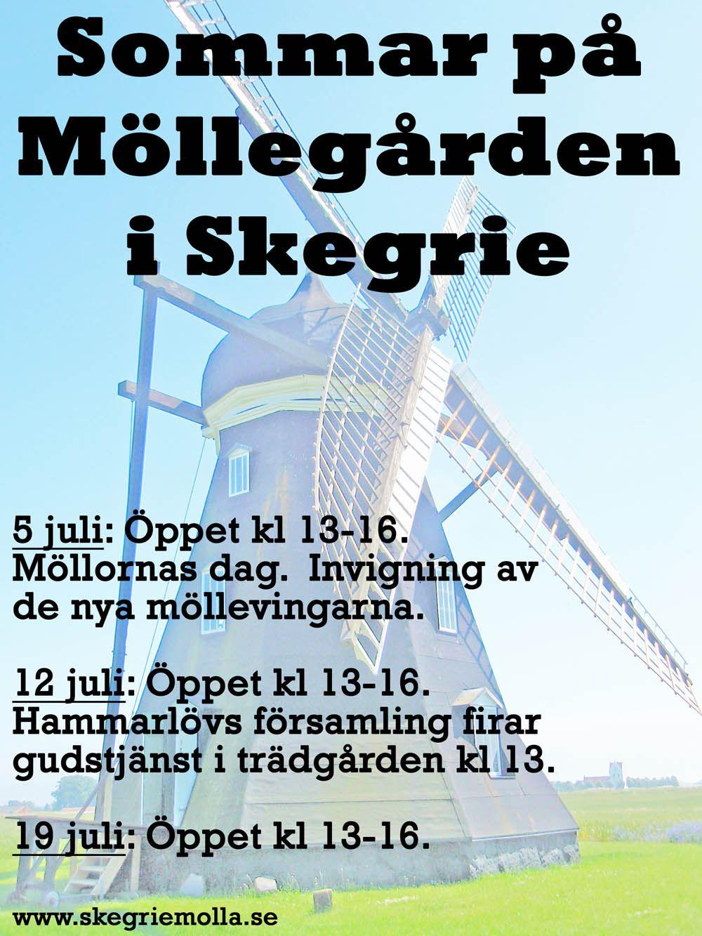 Skytts Härads Hembygdsförening, Sommar på Möllegården i Skegrie. Affisch.