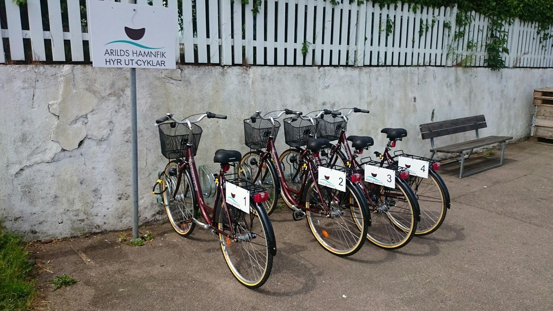 Cykeluthyrning vid Arilds Hamnfik