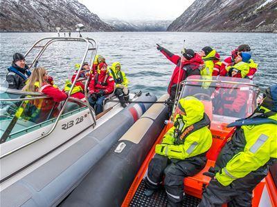 RIB båt og buss transport fra Rombaksbotn til Narvik