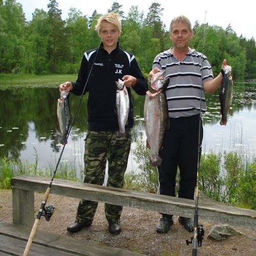 Game fishing in Orrefors