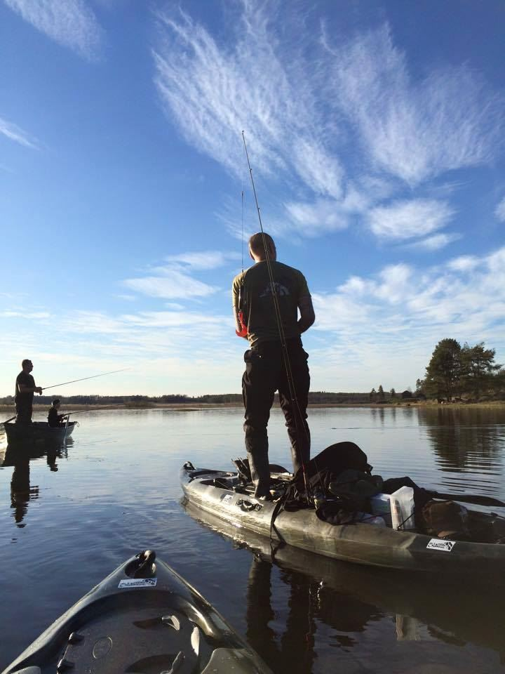 Guided fishing trip by kayak
