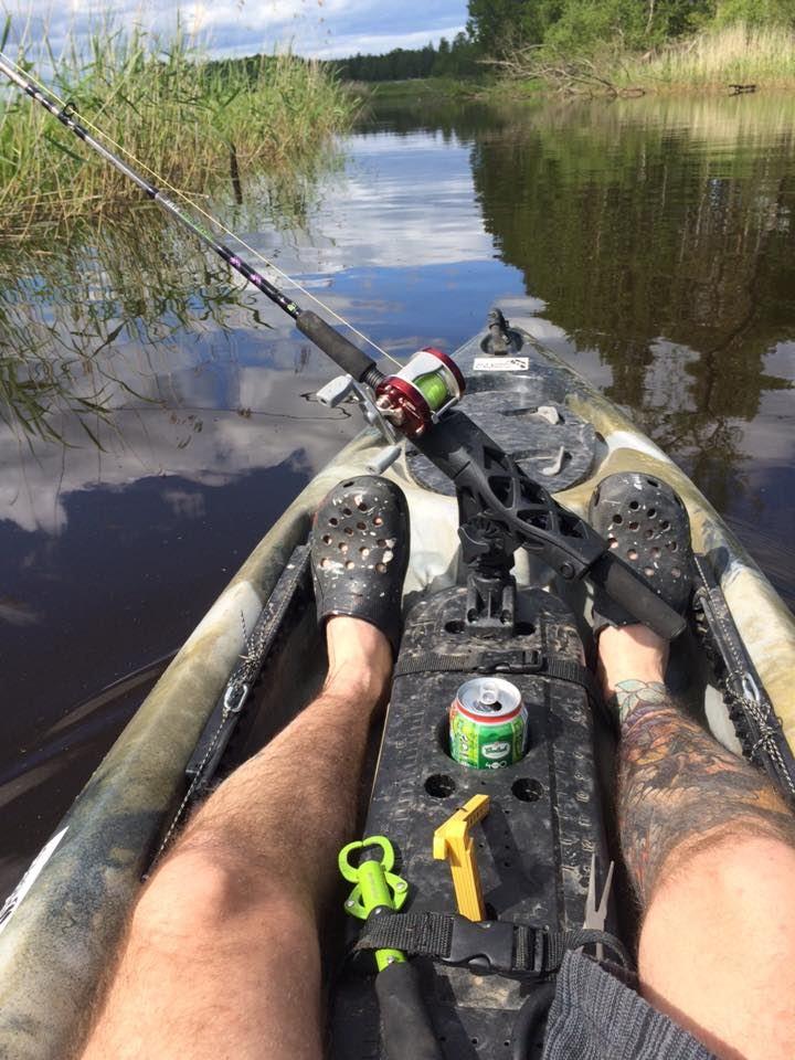 Guided fishing trip by kayak
