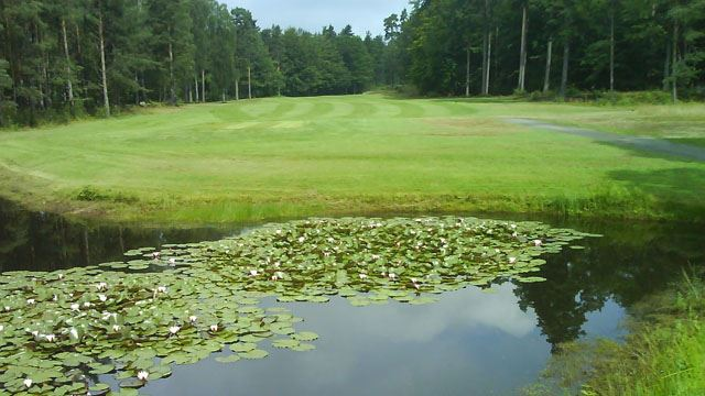 Golfbanan i Mörrum.