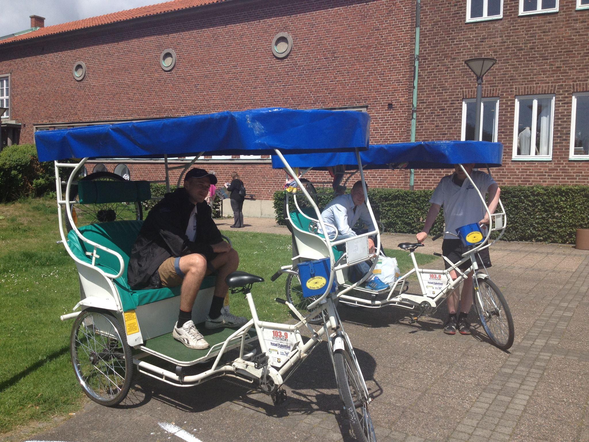 Cykeltaxi i Ystad innerstad