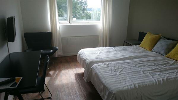 © Tingsryds kommun, Ett av hotellrummen.