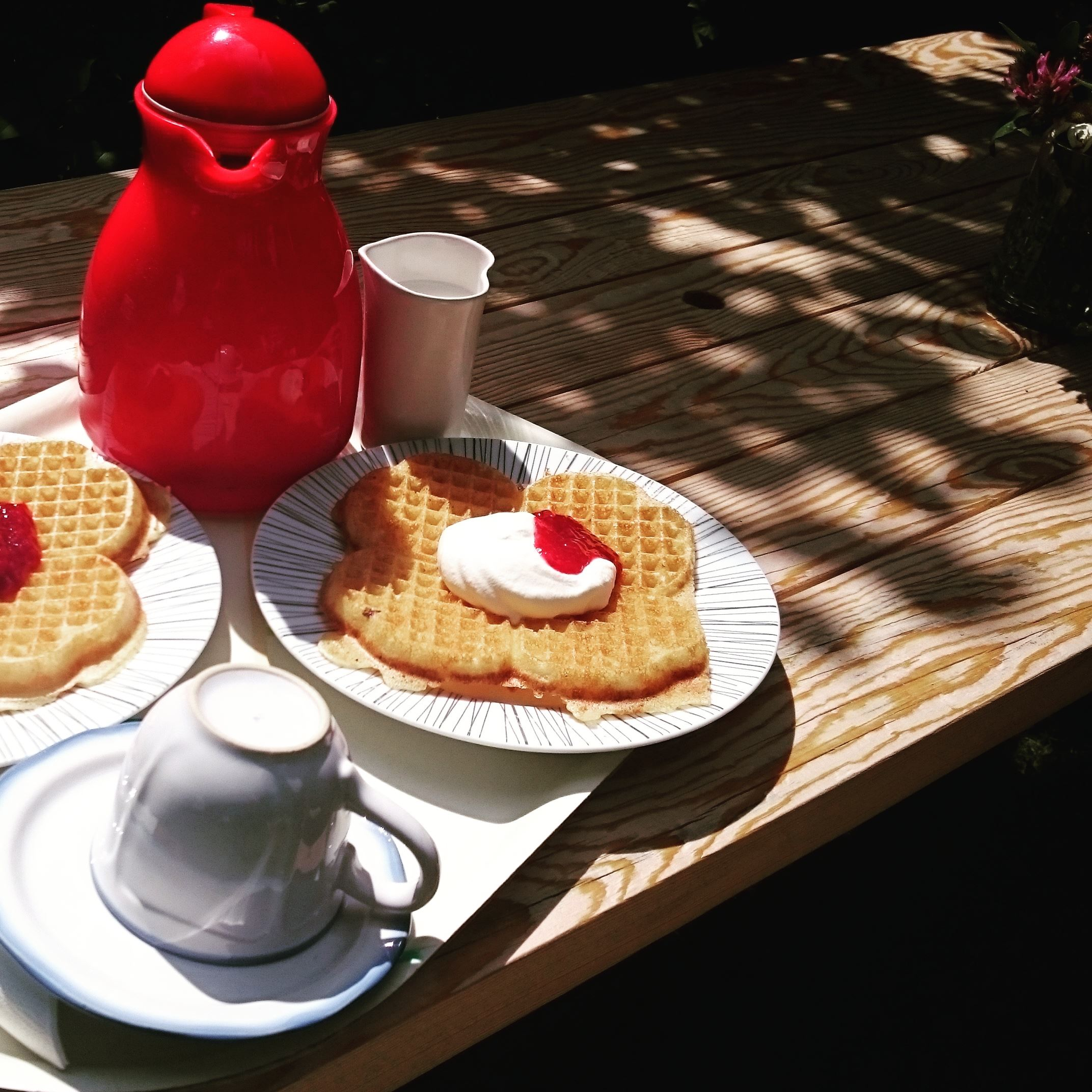 Waffle cafe at the folk museum in Rävemåla