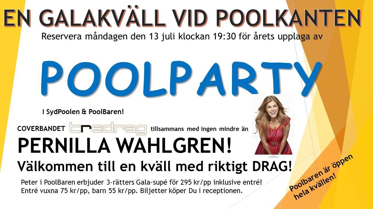 POOLPARTY på Saxnäs