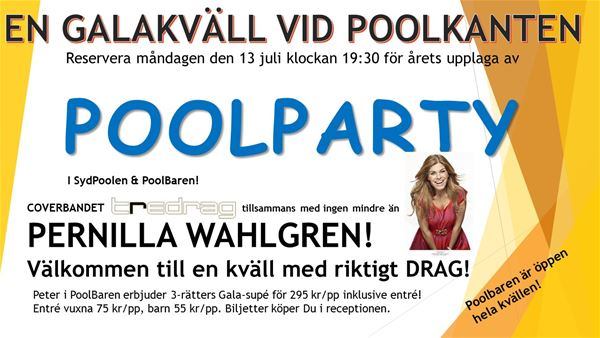 POOLPARTY på Saxnäs