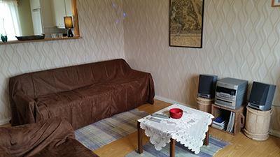Jan van der Mierden,  © Malå kommun, Lägenhet i Rentjärn, vardagsrum