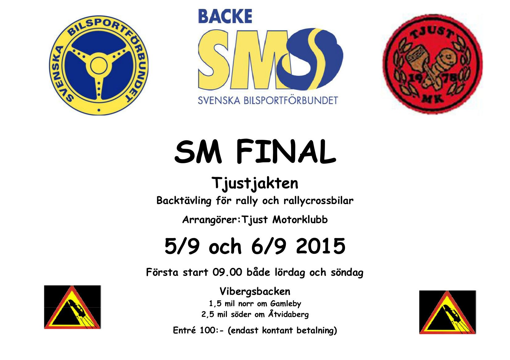 Rallytävling - SM Final backtävling