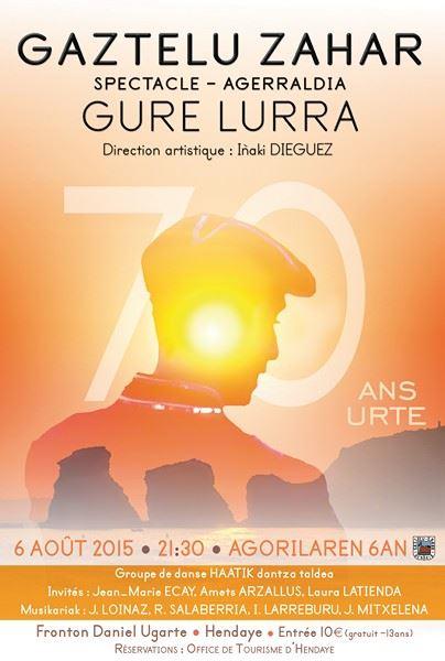 Spectacle exceptionnel , Choeur Gaztelu - Zahar, jeudi 6 aout à 21h30, Fronton Daniel Ugarte à Hendaye