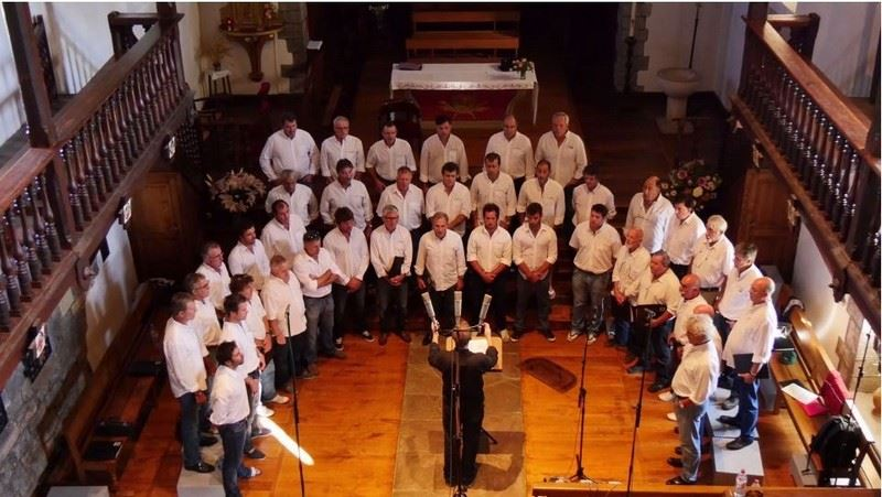 Concert Choeur Gaztelu-Zahar , le jeudi 20 août à 21h00 à l'église St Vincent à Hendaye
