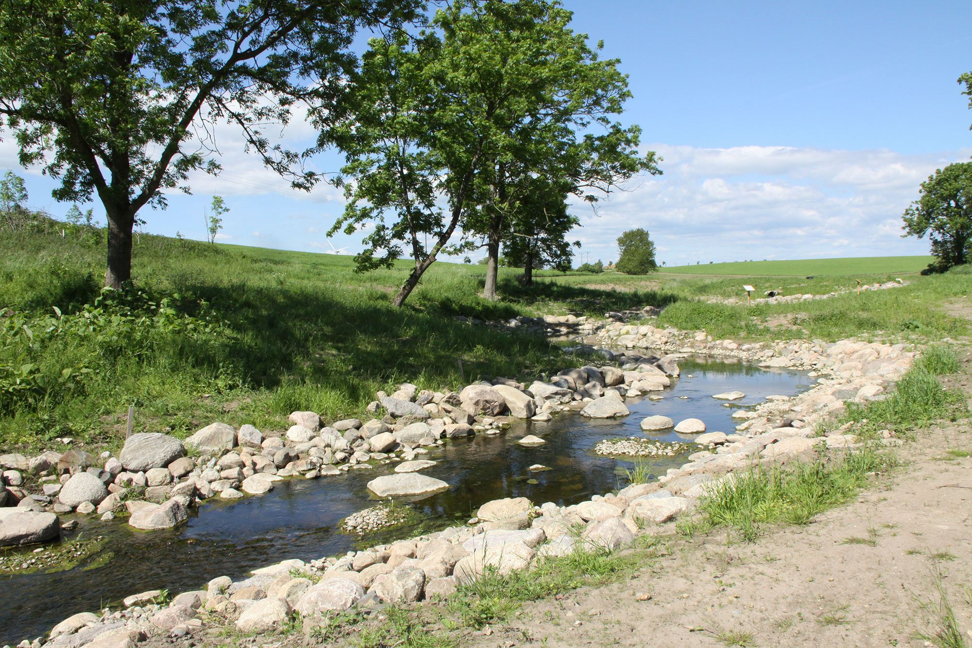 © www.trelleborg.se cc sa 3.0, Show section of the Tullstorp stream