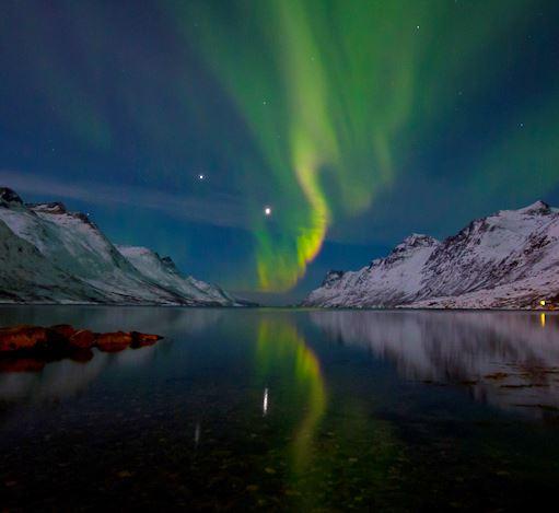 Nordlys over Ersfjorden - Ersfjordbotn Kystferie