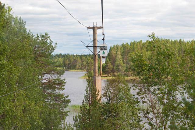 The world's longest ropeway - Mensträsk