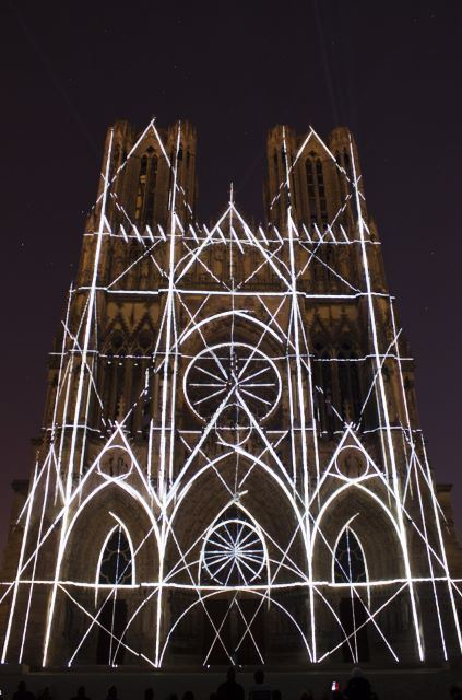 Reims by night
