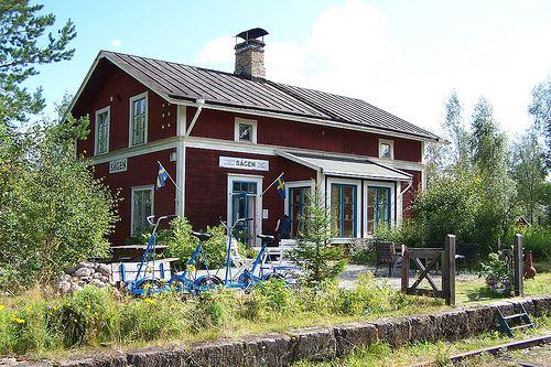 Okänd, Rail trolley in Sågen