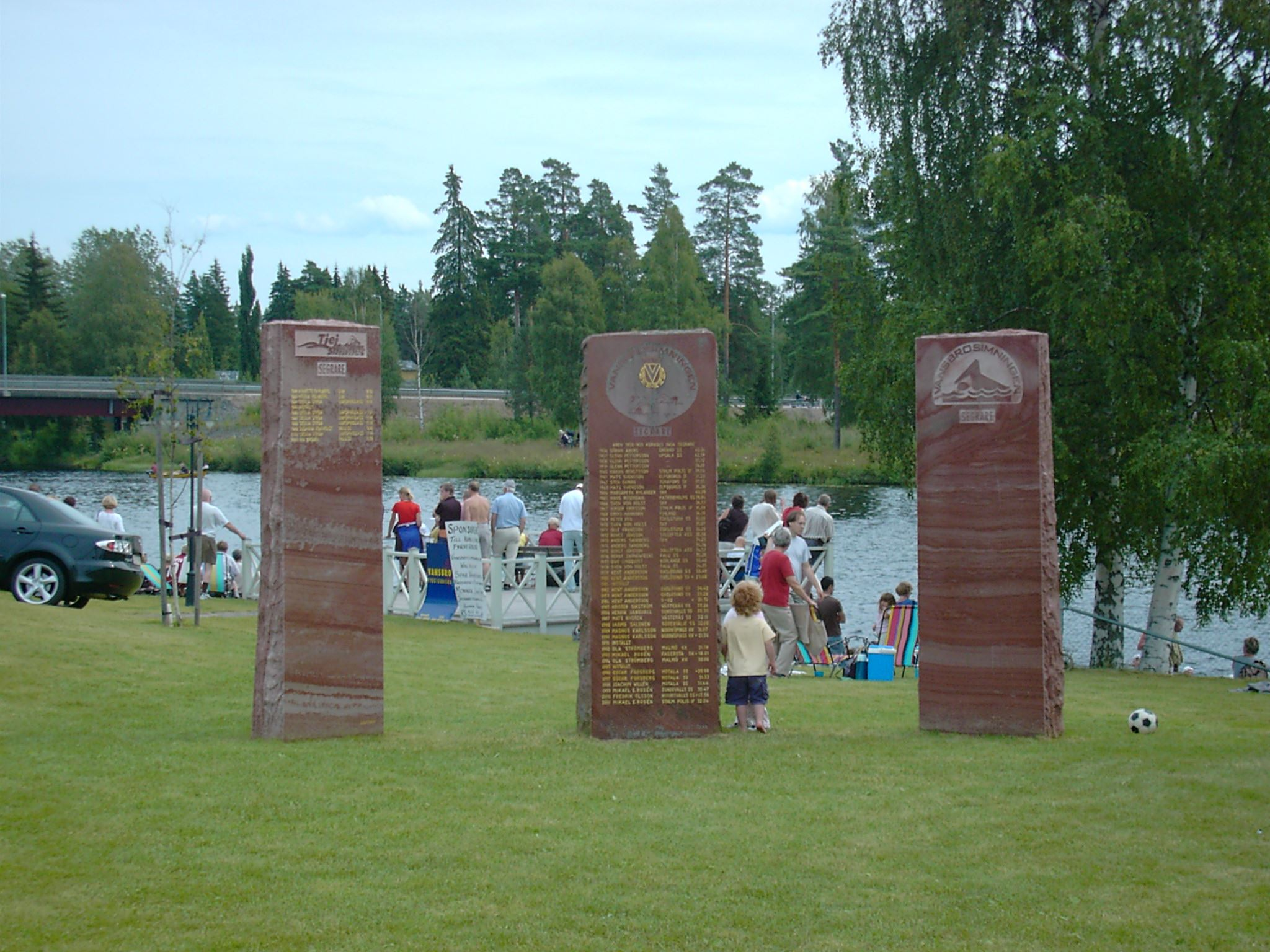Memorial stones of the winners of Vansbrosimningen and Vansbro Tjejsim