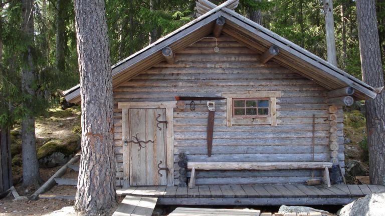 Bastu i Snöå Skogsarbetarby