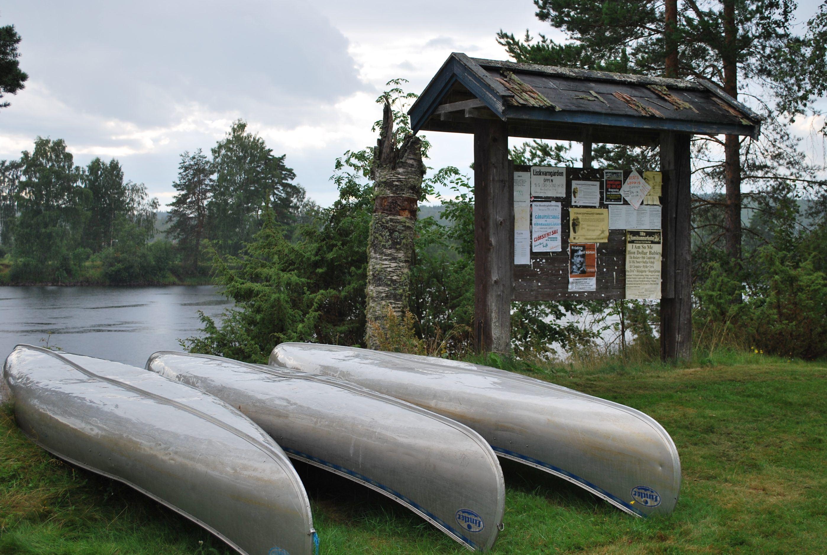 Kanoter på Nås Campig