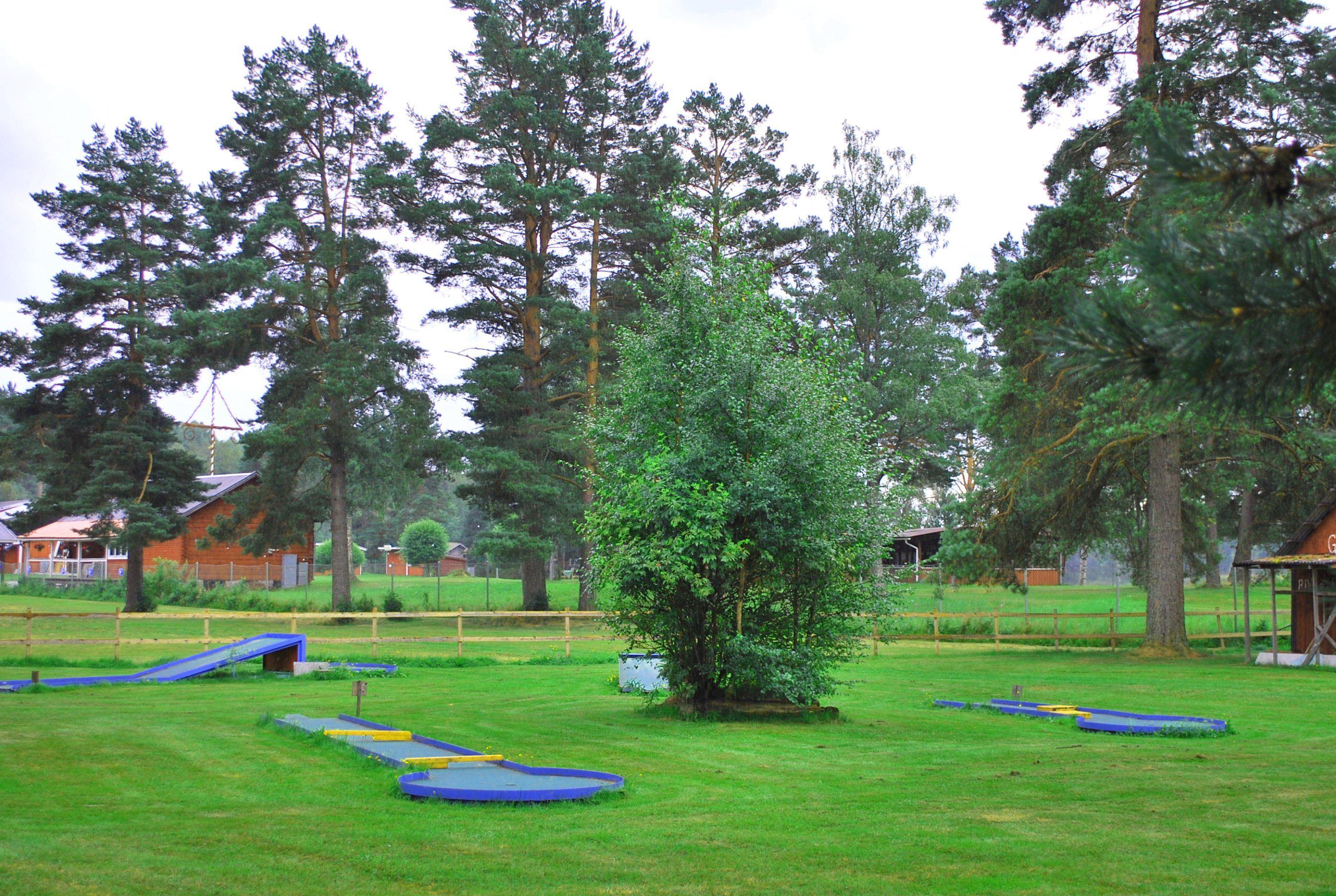 Minigolfbanan på Nås Camping